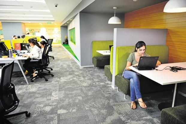 Vacancy levels in places such as Bengaluru and Delh-NCR are low while demand for good office space remains high. Photo: Priyanka Parashar/Mint