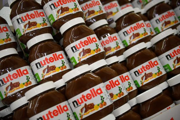 Nutella, relaunched 'My Nutella Jar' in January last year under which a personalised label with customer's name is printed on the spot at the store. Photo: AFP