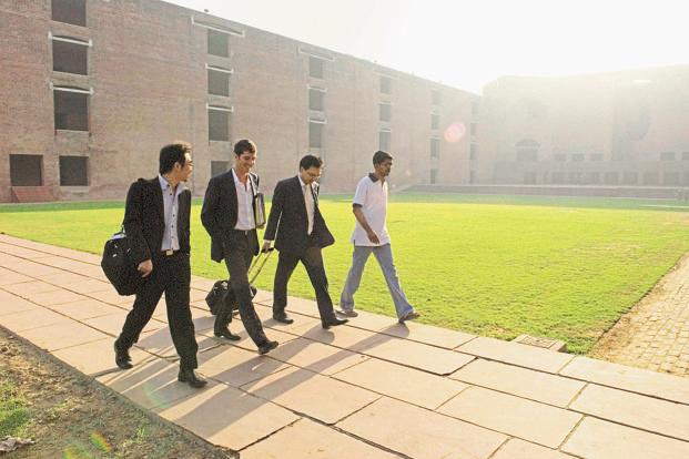 At IIM Ahmedabad, the first cluster placement is over and two more are expected to end by Friday. Photo: HT
