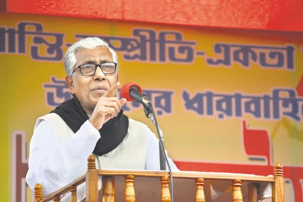 Manik Sarkar is attempting a record fifth term as Tripura chief minister. Photo: Mrinmoy Saha