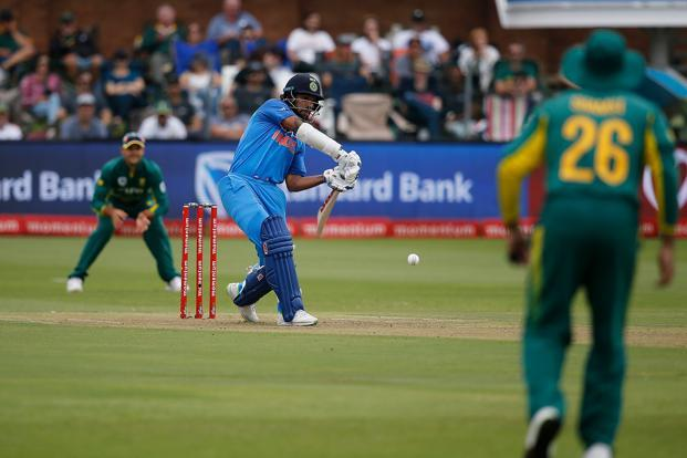 Rohit Sharma scored 115 in the 5th ODI against South Africa on Tuesday. Photo: AFP