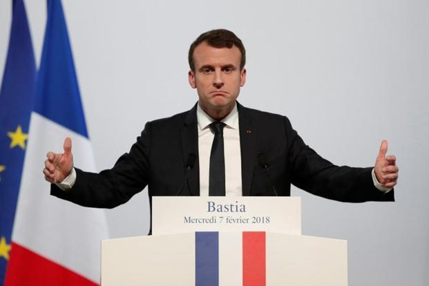 A file photo. 'We will strike the place where these launches are made or where they are organised,' French President Emmanuel Macron told the presidential press corps. Photo: Reuters