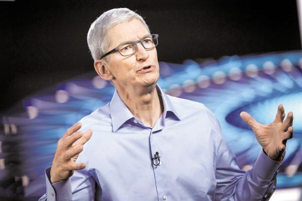 A file photo of Apple CEO Tim Cook. Photo: Bloomberg