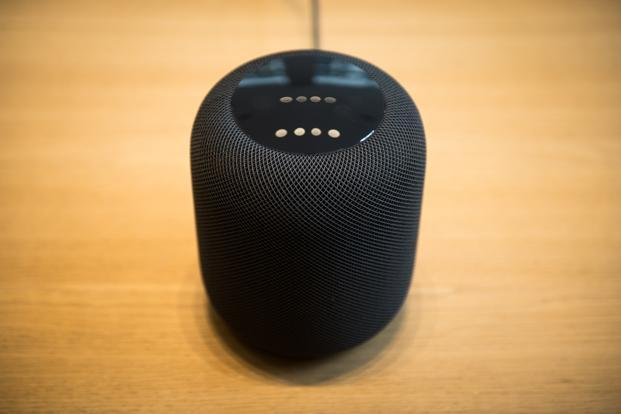 The bulk of the Apple's HomePod's costs come from the internal speaker technology, including the many microphones, tweeters, the woofer and the power management components. Photo: Bloomberg