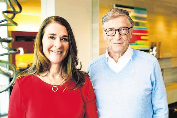 Bill Gates says that he believes in giving because it helps him to do meaningful work, while his wife Melinda Gates says she and her husband give because they both come from families that believed in leaving the world better than one found it. Photo: AP