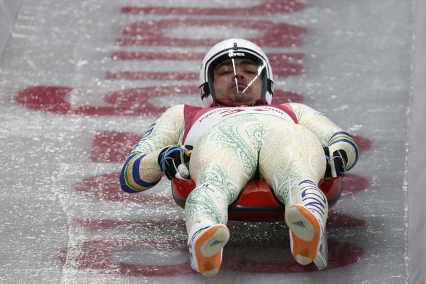 Shiva Keshavan, who completed his sixth and final Olympics in Pyeongchang, funded his previous Olympics trip through crowdfunding, and has also had to compete earlier with a borrowed sled. Photo: Reuters