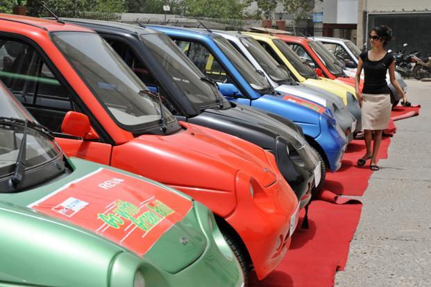 In 2015-16, only 22,000 units of electric vehicles were sold in India, of which just 2,000 were four-wheelers. Photo: AFP