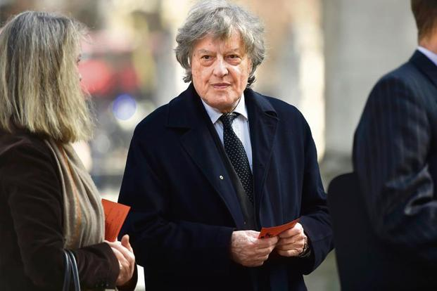 Tom Stoppard at Westminster Abbey in London, in April 2017. Photo: Getty Images
