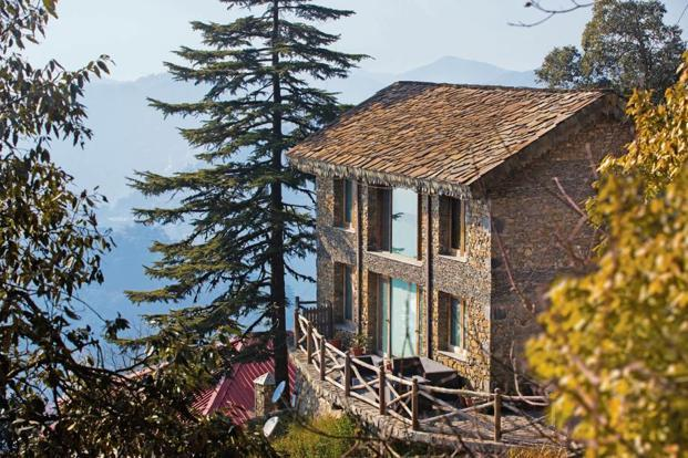 Rokeby Manor's rustic cottages are surrounded by pine and deodar forests.
