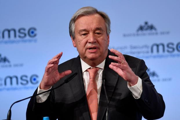 UN chief Antonio Guterres said the latest signals from Israel and Hezbollah showed they will to not let this happen but 'sometimes a spark is enough to unleash this kind of a conflict'. Photo: AFP