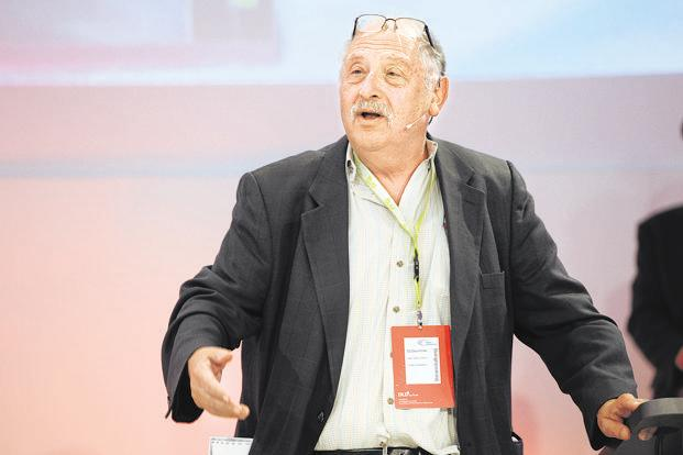 Yossi Vardi, known as the godfather of Israel's tech start-up community, has invested in and helped build some 80 Israeli start-ups. Photo: AFP