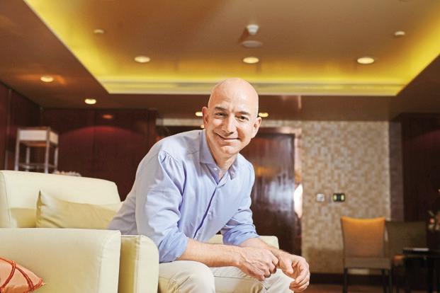 Chief executive officer of Amazon Jeff Bezos. Photo: Hemant Mishra/Mint