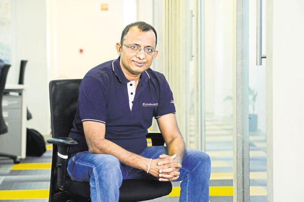 Virendra Gupta, founder and CEO of Dailyhunt. In 2015, Goldman Sachs Group named Dailyhunt as one of the possible 'billion-dollar babies' among India's internet start-ups. Photo: Hemant Mishra/Mint
