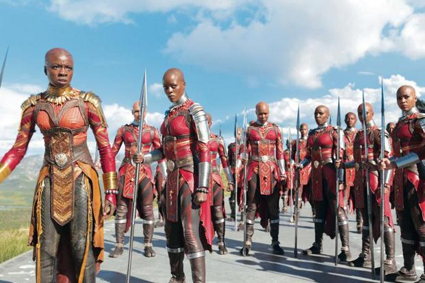 The Dora Milaje, the all-female special forces of Wakanda, from 'Black Panther'. Photo courtesy: Marvel