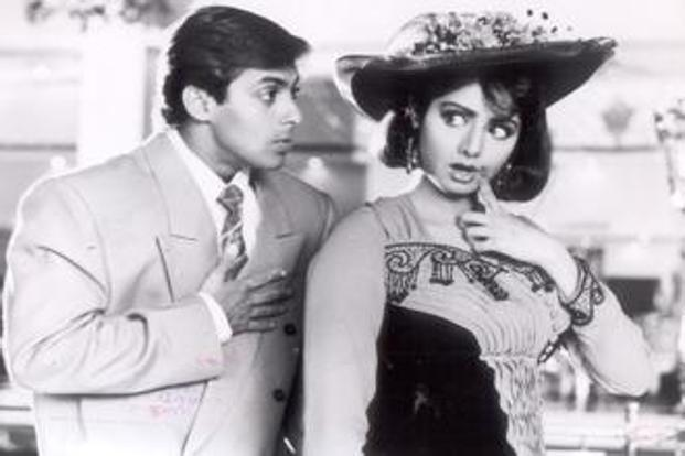 Salman Khan and Sridevi in Chaand kaa Tukdaa.