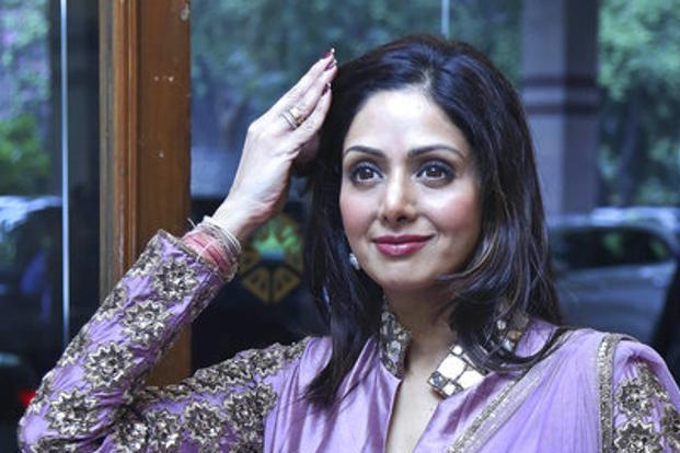 Sridevi, 54, died on Saturday night after a massive cardiac arrest in Dubai. Photo: AP
