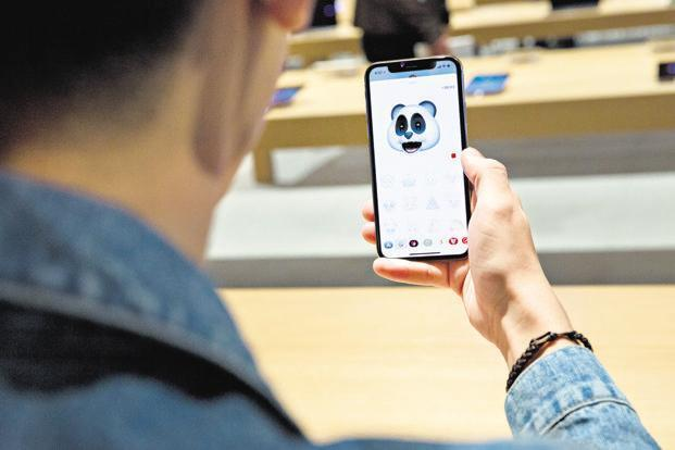 The iPhone X. Apple is unlikely to refer to the phone as a phablet, a term popularized by Samsung. Photo: Bloomberg
