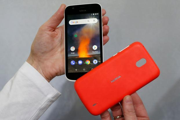 The most affordable phone announced by Nokia at the MWC, the Nokia 1 is priced at $85 and is an Android Oreo (Go Edition) device. Photo: AFP