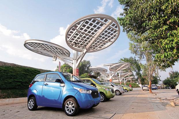 File photo. Building charging infrastructure for electric cars appeals to our path-dependent view of transportation. Photo: Aniruddha Chowdhury