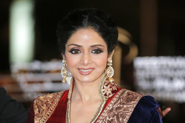 Sridevi's last on-screen appearance would be Shah Rukh-starrer 'Zero', slated to release in December this year. Photo: AP