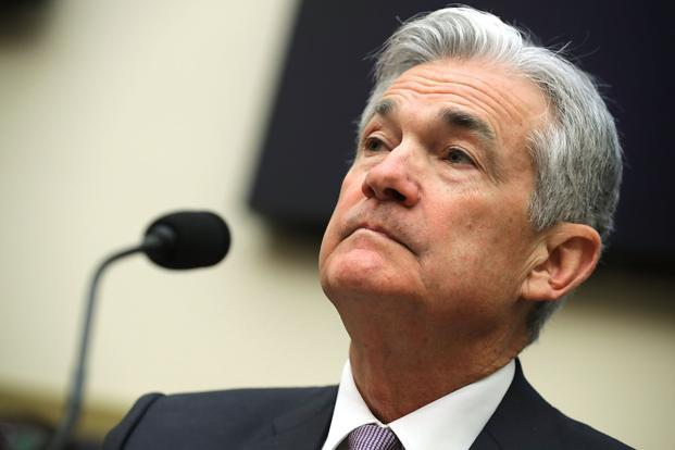 US Federal Reserve chairman Jerome Powell. The downward revision to the Q4 GDP growth estimate largely reflected a smaller inventory build than previously reported. Photo: AFP