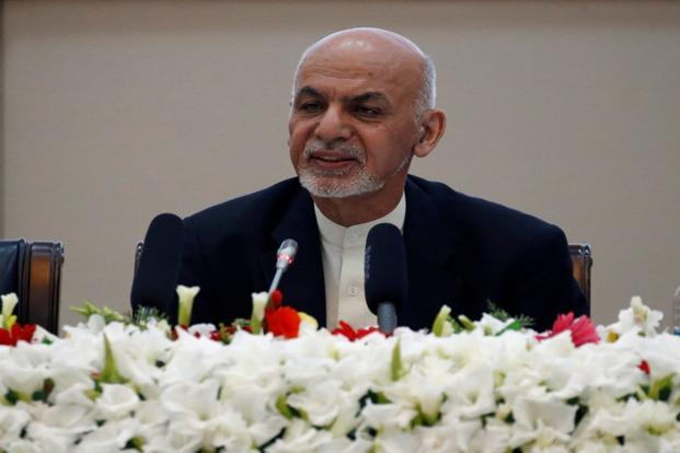 Afghan President Ashraf Ghani, in his remarks, called for a truce, after which the Taliban could become a political party and contest elections. Photo: Reuters