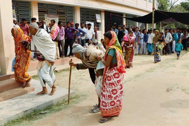 The Tripura elections that ended Tuesday saw a voter turnout of 75%. Photo: PTI