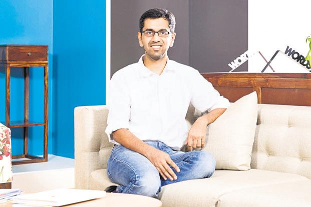 Urban Ladder CEO Ashish Goel. The online furniture start-up operates four stores across Bengaluru and Pune and expects to open 15-20 more by March 2019.