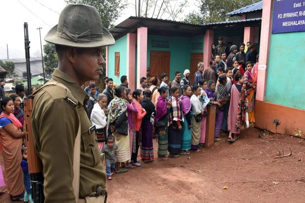 Polling for Meghalaya elections took place on 27 February. Photo: PTI