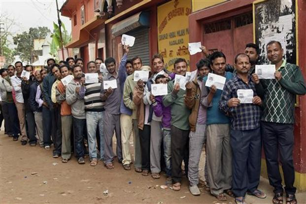 Voting for Nagaland elections took place on 27 February. Photo: PTI/PIB