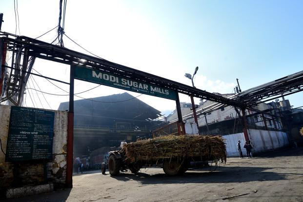 File photo. According to ISMA, sugar production during the 2017-18 crushing season is likely at 26.1 million tonnes, about 29% more than 20.3 million tonnes a year ago. Photo: Priyanka Parashar/Mint