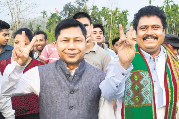 A file photo of Meghalaya chief minister Mukul Sangma. The Congress was down to 21 seats in the state in the 2018 assembly elections, compared to 29 in 2013. Photo: PTI
