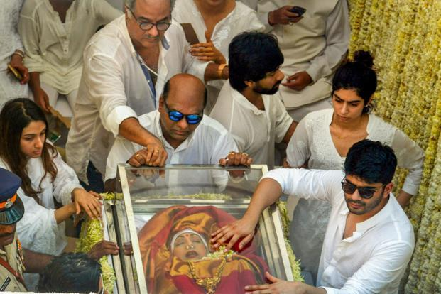 Sridevi's ashes brought to Chennai, family to immerse them in Rameshwaram today