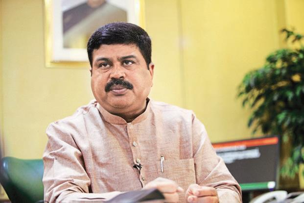 Oil minister Dharmendra Pradhan. India's dependence on the Middle East for its crude oil needs has increased from 58% in 2014-15 to 63.7% in the April-January period of this fiscal, oil minister Dharmendra Pradhan said. Photo: Mint