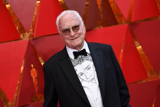 US screenwriter and director James Ivory at the 90th Annual Academy Awards in California. Photo: AFP