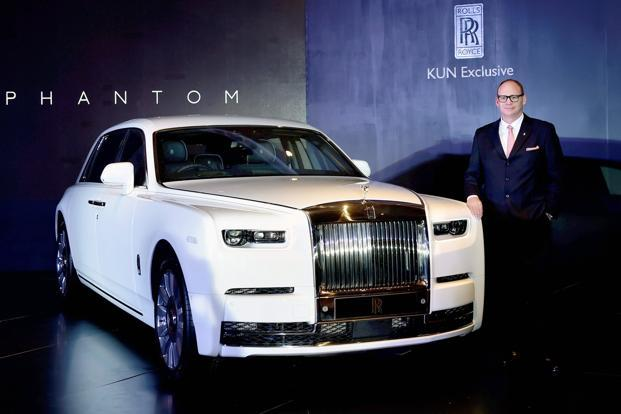 Rolls-Royce Asia Pacific regional director Paul Harris at the launch of eight generation Phantom priced up to Rs 11.35 crore in Chennai. The Phantom Standard Wheelbase variant is priced at Rs9.50 crore. Photo: PTI