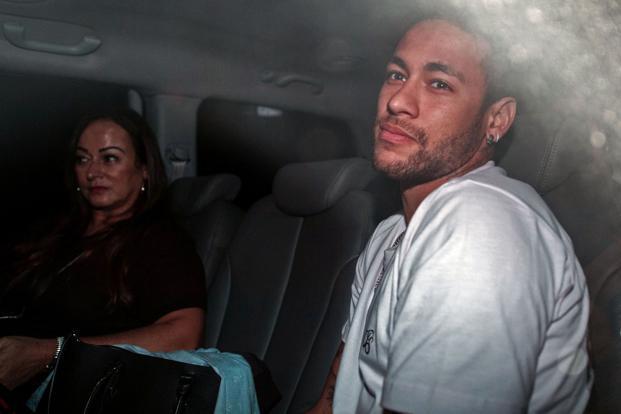 Neymar began rehab Sunday at his $10 million home on the coast near Rio. Photo: AFP