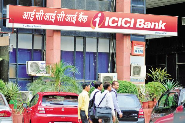 ICICI Bank shares opened on a weak note and lost further ground to touch an intraday low of Rs285.30, down 3.32% over the previous close. Photo: Pradeep Gaur/Mint
