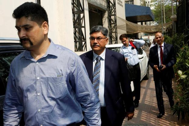 PNB managing director and chief executive officer Sunil Mehta arrives at the Serious Fraud Investigation Office (SFIO) in Mumbai on Wednesday. Photo: Reuters
