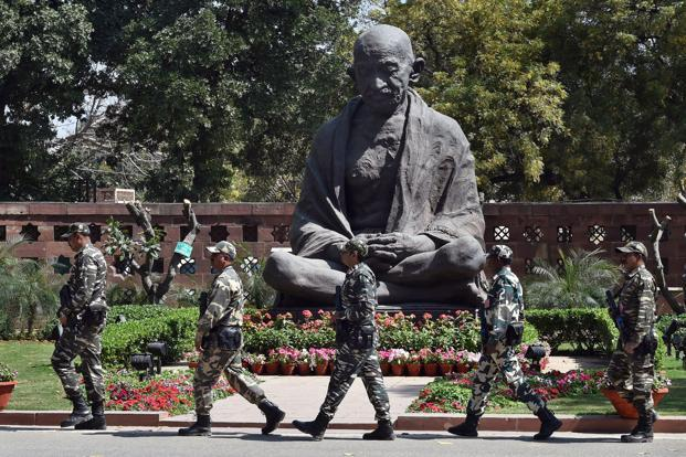 A representational image of a statue of Mahatma Gandhi. Photo: PTI