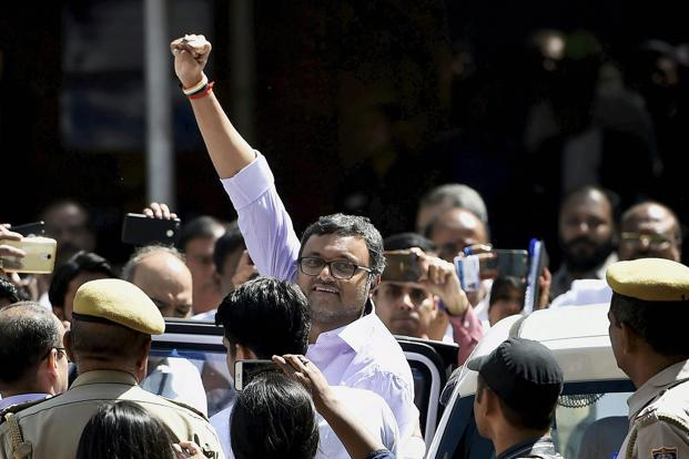 Karti Chidambaram Gets Interim Relief From ED Arrest in INX Media Case
