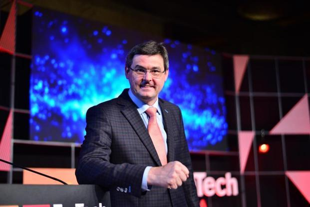 Oliver Schabenberger, executive vice president, chief operating officer and chief technology officer of SAS Institute Inc, at the 2018 Mint Emtech event on Thursday. Photo: Pradeep Gaur/Mint