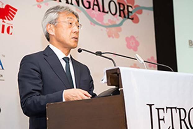 Shigeki Maeda, executive vice-president of JETRO, said there are 1,369 Japanese companies present in India as of now, with investments of about $3.69 billion in 4,838 centres. Photo: JETRO