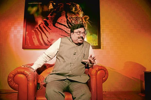 Maharashtra finance minister Sudhir Mungantiwar  sought to quell doubts over the state's economy in a pre-budget press conference on Thursday after he tabled the state's economic survey for 2017-18. Photo: Abhijit Bhatlekar/Mint