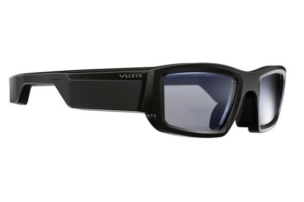 The Alexa-compatible Vuzix Blade has a full-colour display and see-through optics to view notifications on the lenses.