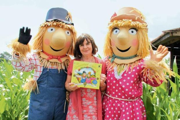 Julia Donaldson with characters from 'The Scarecrows' Wedding'. Photo: Alamy