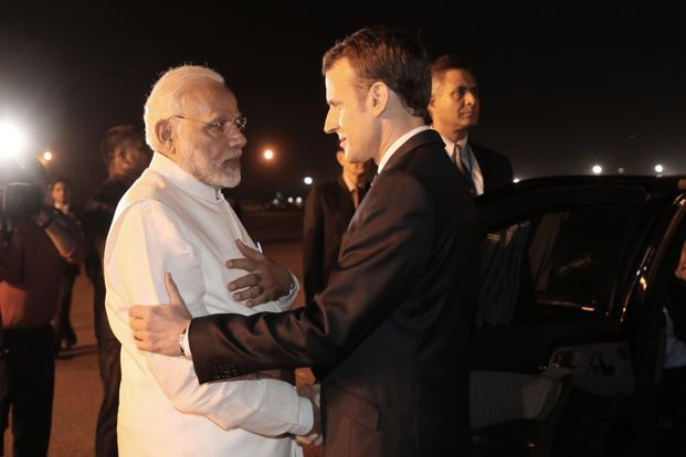 Prime Minister Narendra Modi and French President Emmanuel Macron will be formally launching the International Solar Alliance on Sunday. Photo: AFP
