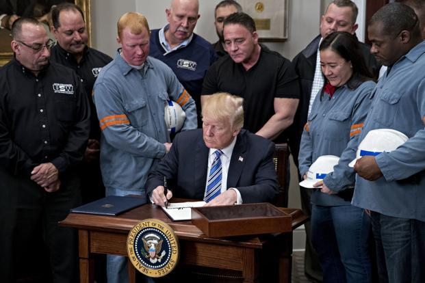 The Trump tariff order excludes Canada and Mexico and leaves the door open to sparing other countries on the basis of national security. Photo: Bloomberg