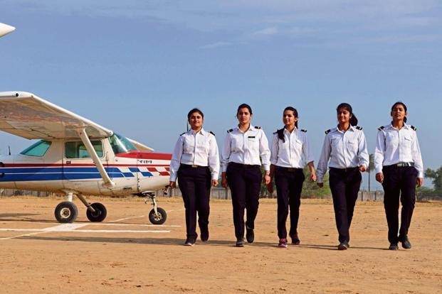 A group of students at the Banasthali Vidyapith Gliding & Flying Club. Photographs: Pradeep Gaur/Mint