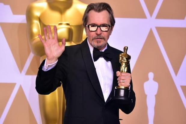 Gary Oldman won the Academy Award for best actor for his role as Winston Churchill in Darkest Hour. Photo: AFP